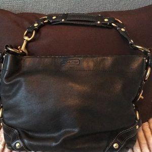 Coach supple Black leather handbag